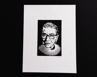 RBG - Handmade Block Print - Limited Edition - Series of 9