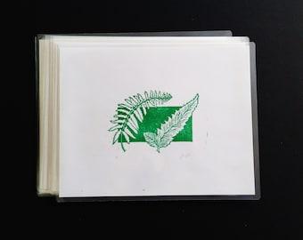 Serrated Fern - Handmade Block Print - Limited Edition - Series of 9