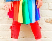 Custom Ultimate Rainbow  Skirt - Upcycled T-Shirt Skirt- You Choose Size (Infant/ Toddler/ Children)