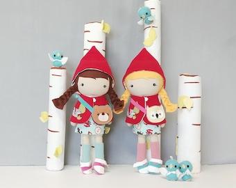 "STUDIO DOLL - Red Riding Hood Doll 15"" Custom Made Heirloom"