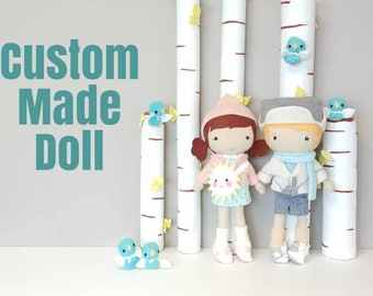 "Handcrafted STUDIO DOLL - Custom Made 15"" Doll Girl"