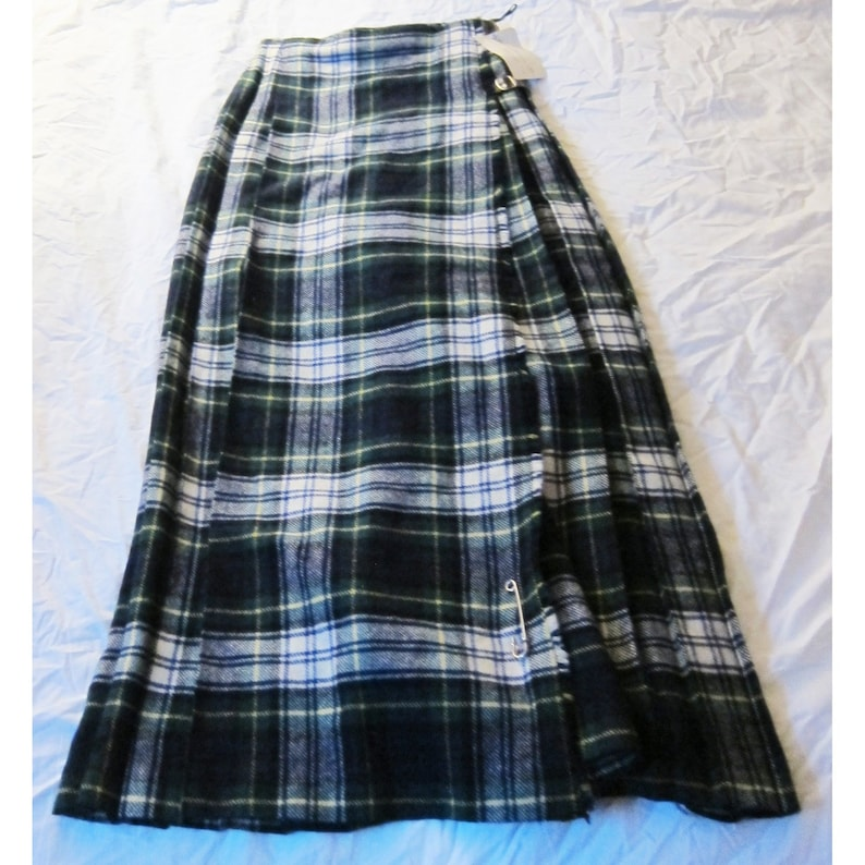 Fj Bacon Womans Kilt Long Pleated Skirt Pattern Dress Gordon Size Small New With Tag Pure New Wool
