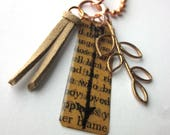 Book Page Arrow Charm Nec...