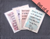 Set of 4 family quote pri...