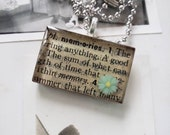 Memories pendant necklace...