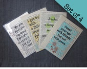 Set of 4 Friendship print...