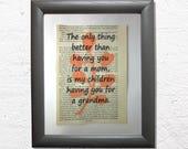 Grandma quote print on a ...