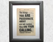 The things you are passio...
