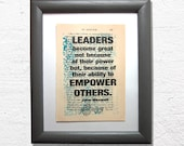 Leadership quote on a boo...