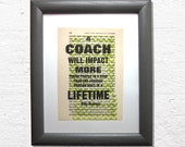 A coach will impact, coac...