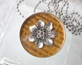 Flower pendant book page ...