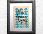 And so our adventure begi...