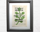 Mentor book page print, m...