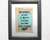 Grandma quote print on a ...