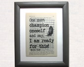 One must champion oneself...