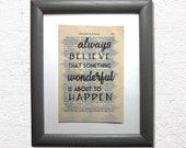 Always believe that somet...