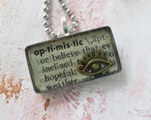 Optimistic pendant neckla...