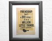 Friendship isn't a bi...