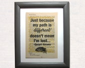 Just because my path is d...