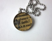 Faith pendant necklace, C...