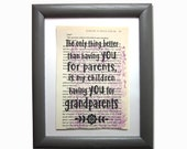 Grandparent quote print o...