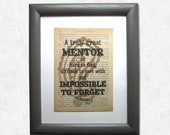 Mentor quote print on a b...