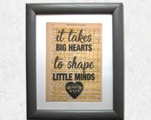 It takes big hearts to sh...
