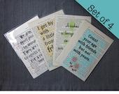 Set of 4 Friendship print...