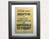 Mentor quote on a book pa...