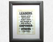 Leaders become great not ...