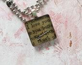 Book Page Love Pendent Ne...