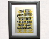 You earn your trophies at...