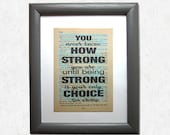 You never know how strong...