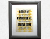 Coach me and I will learn...