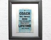 A coach will impact, coac...