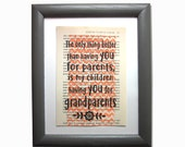 Grandparent quote print o...