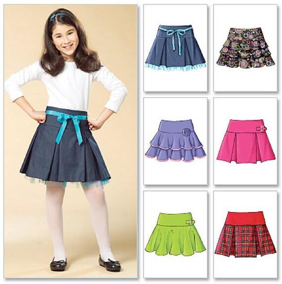 Patrón de costura FALDA de las NIÑAS faldas muy fáciles 6 en | Etsy