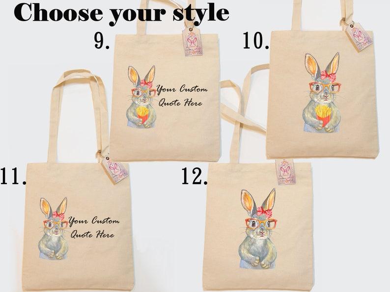 all you need is love bag every bunny needs some bunny to love rabbit kiss your bunny Custom Tote Bag bunny bunny gift Cotton Tote