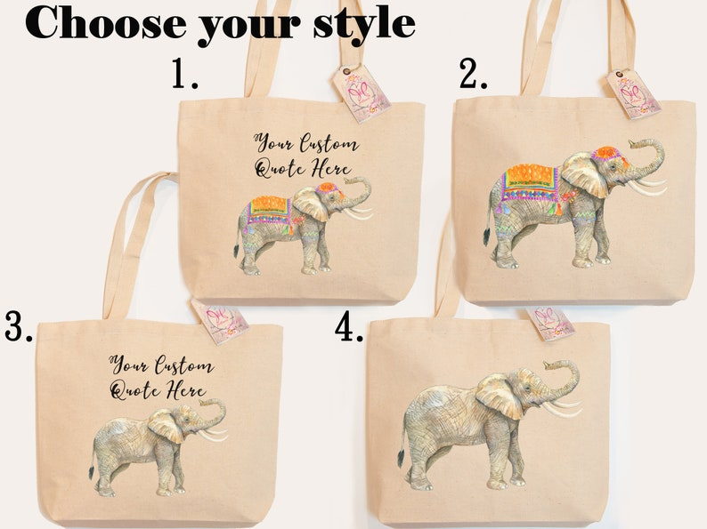 Tote Bag better days are coming Personalized Bag work hard dream big Canvas Elephant Breathe it all in Love it all out peace on earth