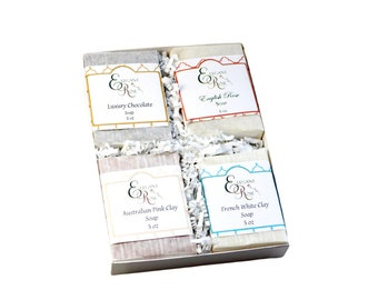 Luxury Natural Soap Gift in Gift Box, Gift for Him, Hostess Gift, Postal Worker Gift, Holiday Gi