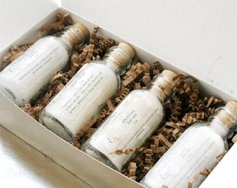 Bath Salts Gift Set, Spa Gift Set, Christmas Gift Box, Gift for Her, Bath Salts for Mom Gift Box
