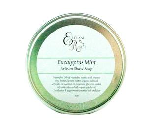 Eucalyptus Mint Shave Soap, Mens Shaving Soap, Men's Shave Soap,  Shaving Soap, Mens Shave Soap, Wet Shaving, Shaving Puck