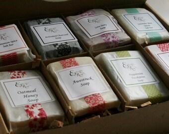 Birthday Gift, Soap Sampler Gift Set - Handmade soap| Natural Soap| Soap Gift for Her, Gift for Him, Mom Gift, Gift Idea