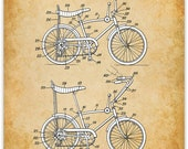 Stingray Bicycle Patent Print - 11x14 Unframed Patent Print - Great Gift for Bicyclists and Outdoor Lovers