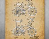 Poster - Stingray Bicycle Patent - Choose Unframed Poster or Canvas - Great Decor and Gift for Bicyclists and Outdoor Enthusiasts