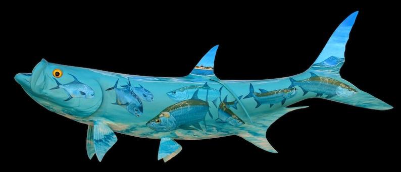 Custom Tattooed Tarpon Fish Mount image 0