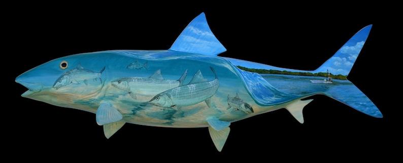 Custom Tattooed Bonefish Fish Mount image 0