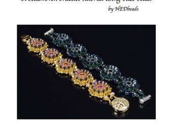 Lotus Bracelet - A Beadweaving Tutorial using Rizo Beads