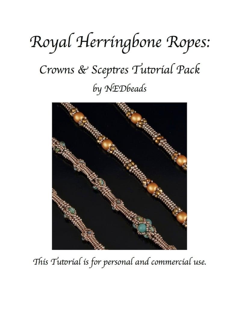 Royal Herringbone Ropes  Twin Tutorials for two Beautiful image 0