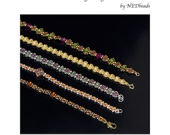 Beadweaving Tutorial - Changeable Chain, Variations on Right Angle Weave